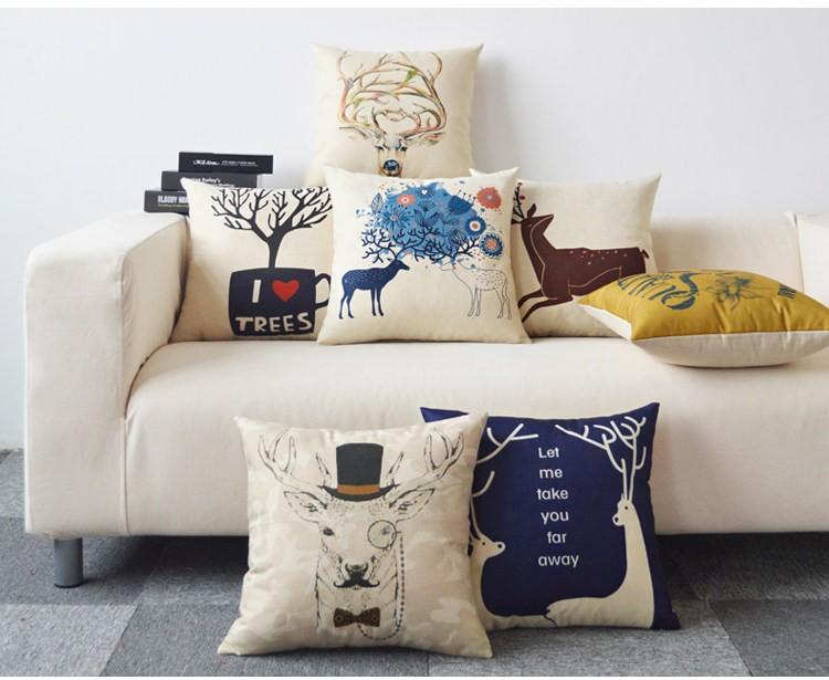 <耶誕交換禮物>北歐系列沙發枕 /棉麻靠枕((預購7-14天))