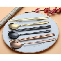 韓國風金屬餐具((預購,7-14天到貨)