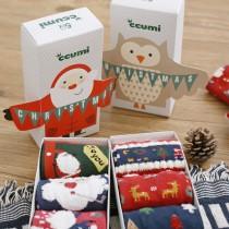 聖誕禮盒襪(3入)